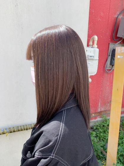☆ダメージレス☆シングルカラー+1stepトリートメント+毛量調整カット