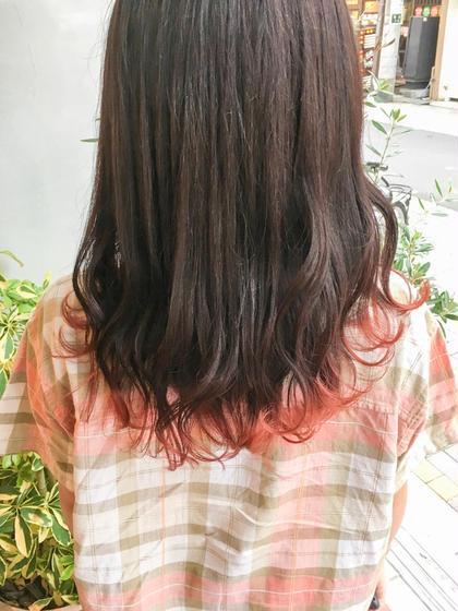 可愛いインパクトカラー【✨ブリーチを使った毛先だけブリーチで可愛い袖カラー✨】袖だけブリーチ+ワンカラー》】