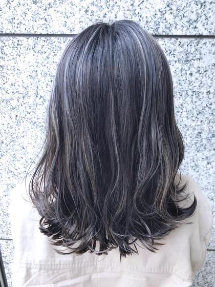 カラー ミディアム 繊細ハイライト!!