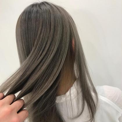 【プレミアム髪質改善】サイエンスアクア美髪Tr×ハイトーンミルクティーグレージュカラー