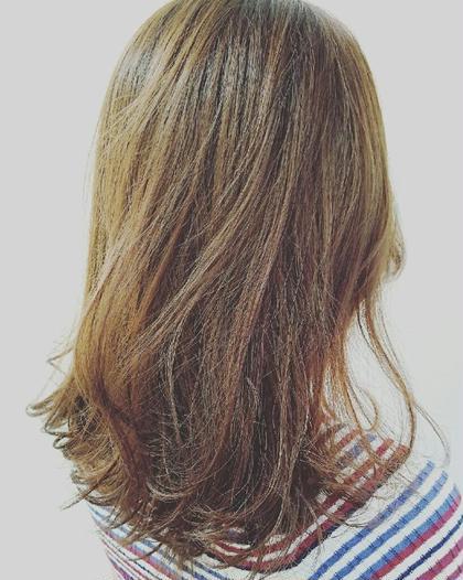 ハイライトをいれて変化を。 Agu hair rio 本川越店所属・阿部拓磨のスタイル