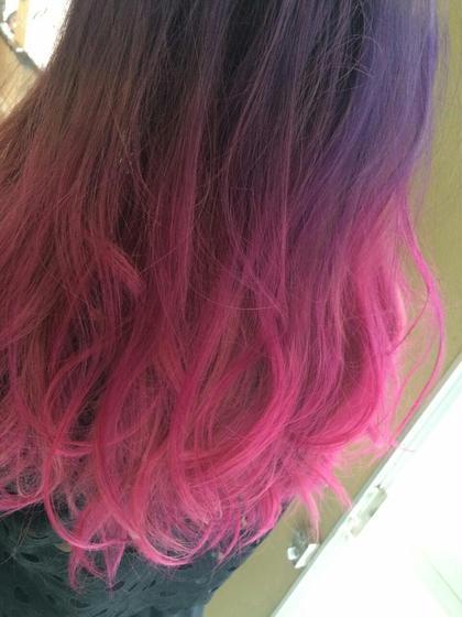 パープル~ピンクのグラデーションです(^^) NaturalControl 本店所属・ヘアクリエイター嶋田のスタイル