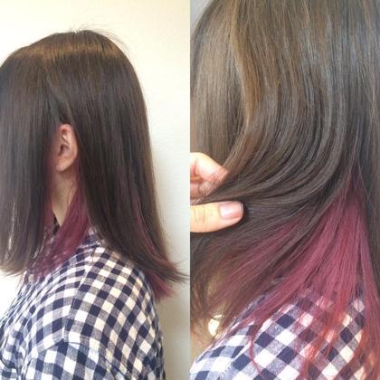 インナーカラー purple×Aujuaトリートメント MusebyKENJE所属・阿部佑香のスタイル