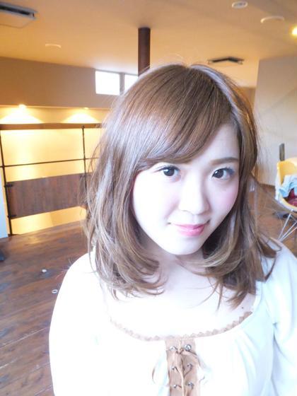 春夏カラーのミントアッシュ! 内巻きになるようにカット! HAIR•SPA  KANCA所属・一瀬万柚子のスタイル