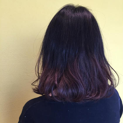 グラデーションカラー✨ 毛先は一度ブリーチしてからカラーしています! BASSA所属・折笠晴香のスタイル