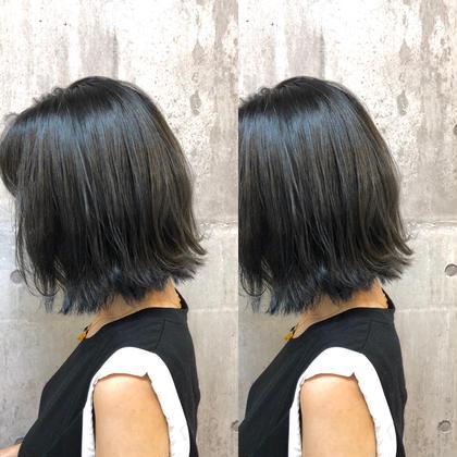 ツヤ感・透け感カラー&TOKIOトリートメント&希望で前髪カット