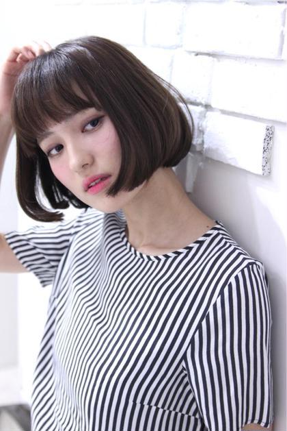 ワンレンボブ☆ 内巻きにした、スタイリング簡単スタイル♪ F.所属・F.〜エフ.〜中崎町のスタイル
