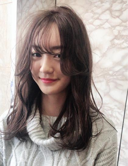 【メンテナンス❣️】小顔似合わせ前髪カット&イルミナカラー&最新トリートメント🎉コテ巻き付き