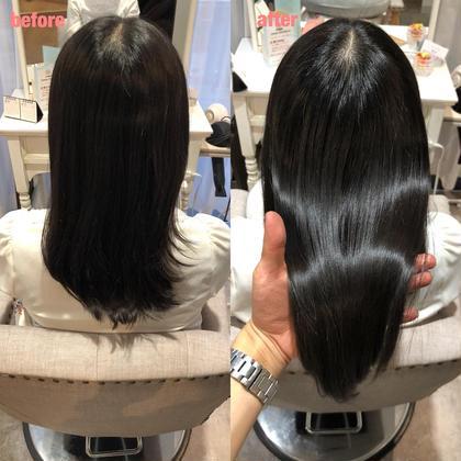 💛🌈前髪縮毛矯正➕髪質改善➕カット➕ダメージ分解シャンプー 🌈💛✂️