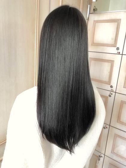 【❤️劇的綺麗❤️髪質改善❤️】こだわりストレート+クイックトリートメント