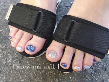【gel nail】見えないお洒落で周りとの差を❤︎†フット全デザイン定額 ¥5,980