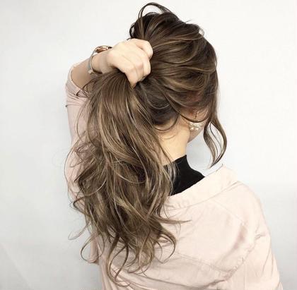 ✨外国人風ダブル colorメニュー✨(ケアブリーチ使用)選べる最高級カラーモテ髪大変身💈次回も同じ料金です
