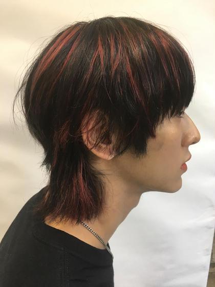 メンズ 赤メッシュ ¥5800〜