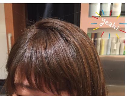 自然なふんわり前髪パーマ! 朝スタイリングにコテいらずです♪ HUG-yokohama-屏風浦店所属・柿澤真琴のスタイル