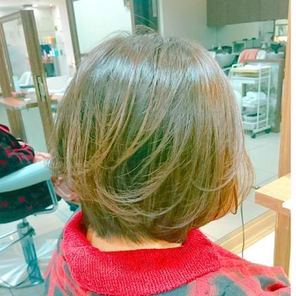 🌈人気No.5⃣似合わせカット&白髪染め&うるサラ✨プラチナトリートメント🌈✨