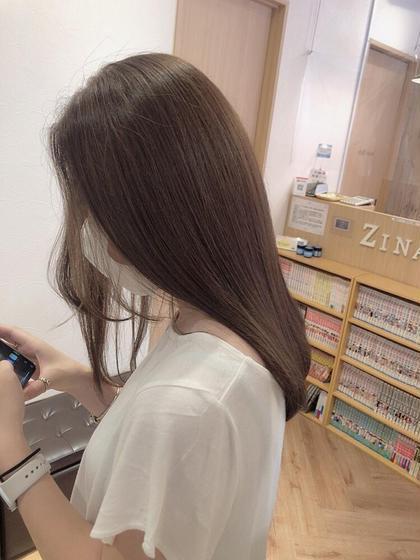 ブリーチ無しダブルカラー🍑透明感/低ダメージ/8900円
