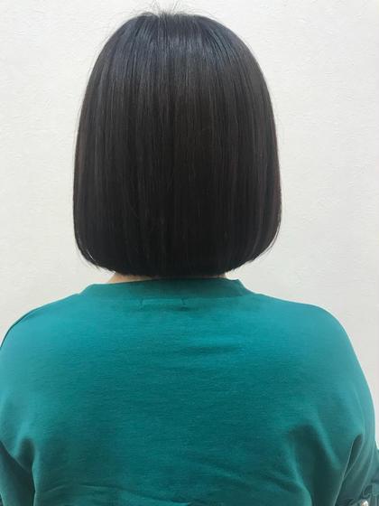 首がスッキリボブに(*´-`)少し切るだけでも軽くなりますね☺︎♡ 茂木 恵里香のショートのヘアスタイル