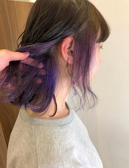 gradation color or point color + 潤艶 treatment