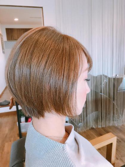 バッサリ、ショートボブに☺︎   Chess所属・福島有紀子のスタイル