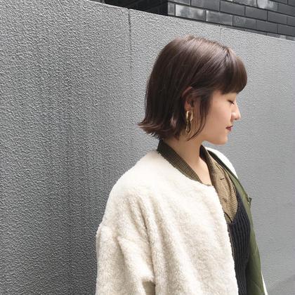 前髪カット+透明感カラー+TOKIOトリートメント