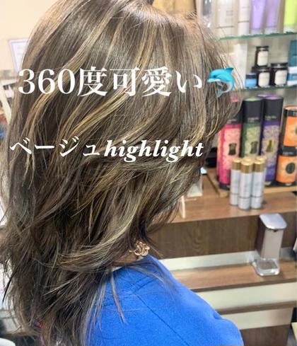 ⭐️外国人風ハイライト入れ放題+カラー