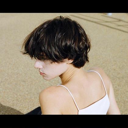 その他 カラー ショート パーマ image . マッシュ〜サイドまで繋げるバランス* . 目にかかる前髪の長さは邪魔だけど雰囲気が出る☆  . . . #ショートヘア#ショートマッシュ#うざバング#ショートパーマ#image