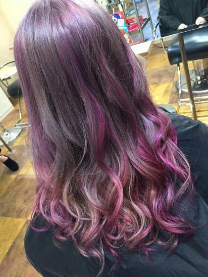 内側はガッツリ!表面にもちらっ|ω・)っと見えるピンクのカラーバターが可愛い♥ kitchen所属・sakaiyukoのスタイル