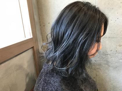 カラー ミディアム blue gradation★