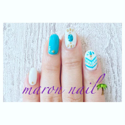 ターコイズネイル ¥3000 Maron  nail所属・マロンネイルのフォト
