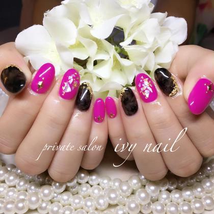 ネイル キャンペーンデザイン✨カラーチェンジ  ピンク×ブラックべっ甲✨
