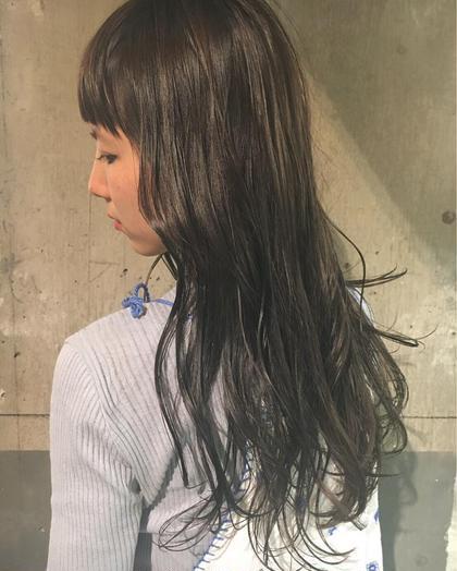ワンカラー♡  もともとハイライトが入ってた髪に、 グレーとネイビーとラベンダーをON♡♡  グレー♡  keen所属・タカハシフユミのスタイル