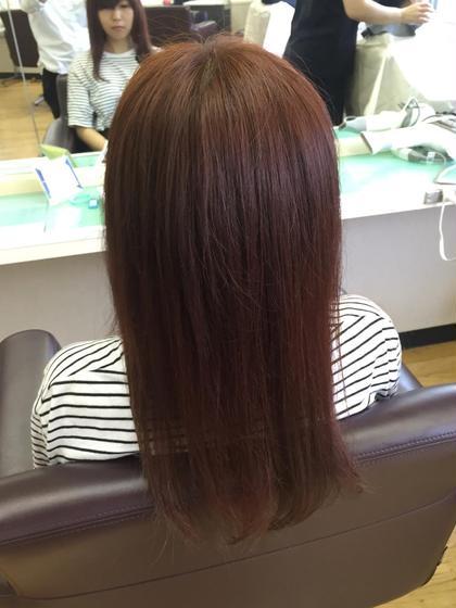 赤味のあるカラーです!  松本平太郎美容室  国立店所属・小松崎晃弘のスタイル