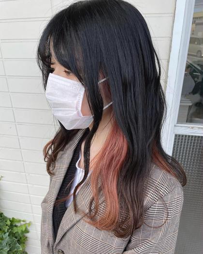【人気の韓国風ヘア🇰🇷】インナーカラー+全体カラー