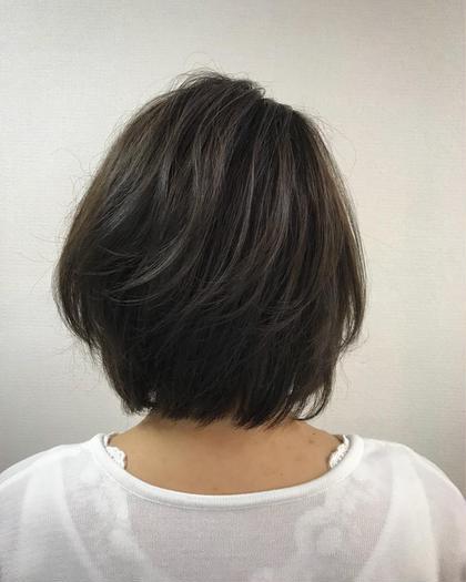 クリスタルカラー[白髪染め] & プレトリートメント