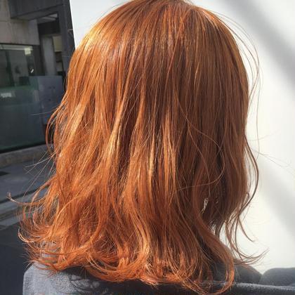 🧡🧡Zippyカラー🧡🧡 オレンジカラー+内部補修トリートメント (+¥3240でブリーチ可)