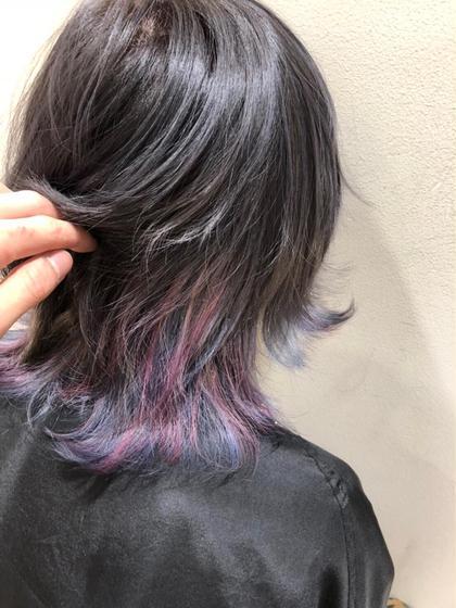 ブルー×ピンク×バイオレットの ユニコーンカラー🦄 MODEK's所属・伊藤舞衣子のスタイル
