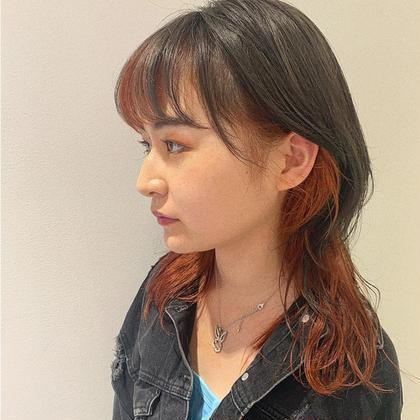 ✅インナーor裾カラー(ブリーチなし)+トリートメント✅