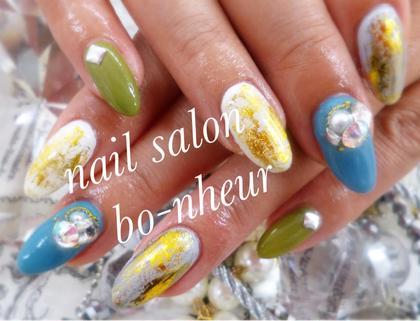 デザインコース✨100種類以上のsampleから選んで頂くコースになります✨カラーチェンジ可能です♡ nail salon  bo-nheur(ボ・ヌール)所属・瀬戸望見のフォト