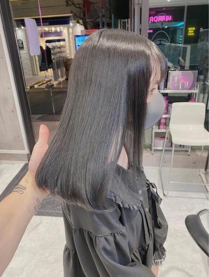 透明感イルミナカラー+髪質改善Tokio トリートメント