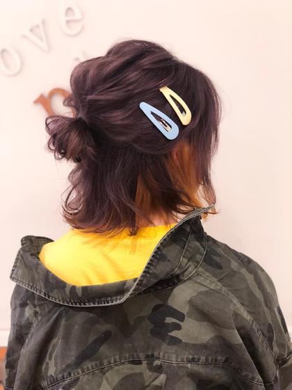 インナーカラーga 担当カラーde 反量産型ヘアアレンジ🌀 ヲタク美容師 ❤︎ヲタク美容師❤︎のヘアアレンジ