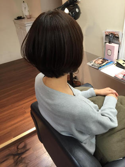 ダメージレスカラーでサラサラ艶髪に Realme下通りby heel所属・成松勇治のスタイル
