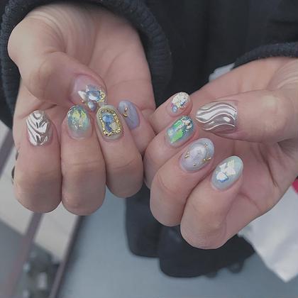 ネイル マツエク・マツパ 2月空きございます✴︎ ニュアンスアート、個性派アートお任せください^_^ instagram<<chipieee_nail_saya>>