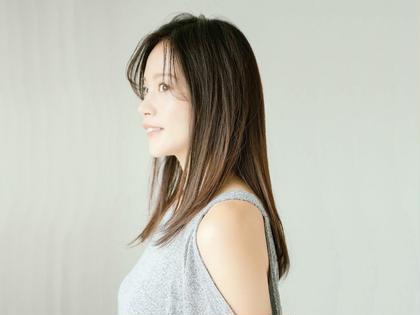 柔らかシルク縮毛矯正+カット+プラチナTr¥14040→¥6000