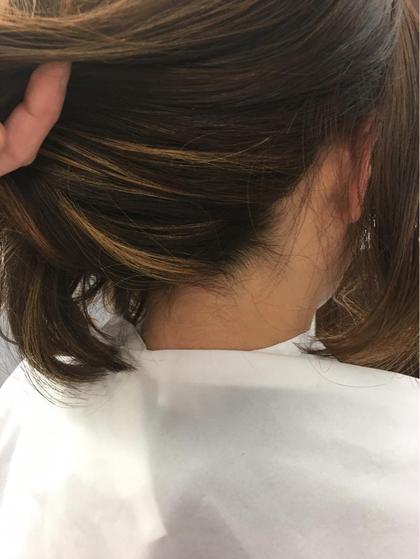 インナーカラー♪ ブリーチ ハイライト♪ 髪を結んだ時にかわいい♪ PRIMAL(プライマル) 稲毛店所属・大澤美樹💇♀️店長のスタイル