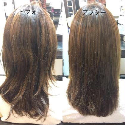 トリートメントなのに、癖が自然な真っ直ぐに! hair care salon Schon所属・久木元 猛志のスタイル