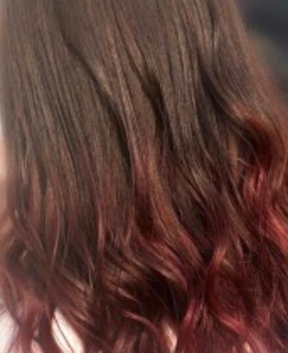 💎グラデーションカラー(毛先のみブリーチ+全体カラー)➕毛先枝毛カット