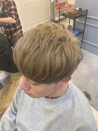 カラー ショート メンズ cut / wcolor / addicthy / blond✂︎