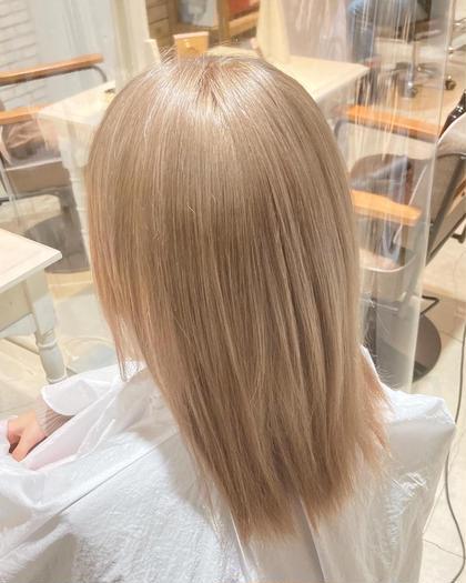 💐[学割Uー24]🔸ブリーチダブルカラー+前髪カット+TOKIOトリートメント💜