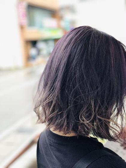 パープル強めのグラデーション Hair work shop Jieji所属・多田遼太のスタイル