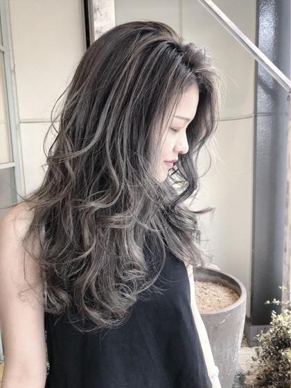 【大人気】ダメージレス外国人風ハイライト+イルミナカラー+髪質改善トリートメント